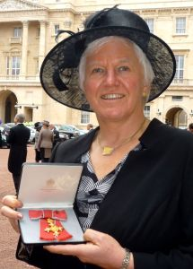 Celia and her OBE