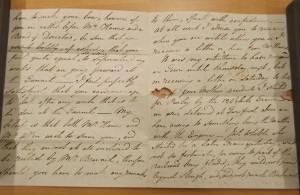 Picture of a letter from the Blount archive
